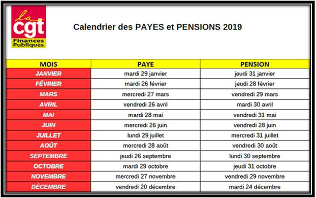 Calendrier Pension.Cgt Finances Publiques 65